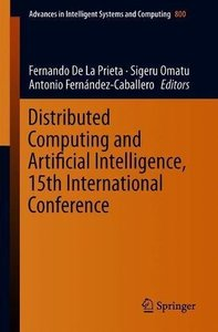 Distributed Computing and Artificial Intelligence, 15th International Conference (Advances in Intelligent Systems and Computing)-cover