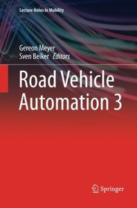 Road Vehicle Automation 3 (Lecture Notes in Mobility)-cover