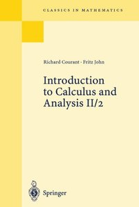 Introduction to Calculus and Analysis, Vol. II/2 (Paperback)-cover