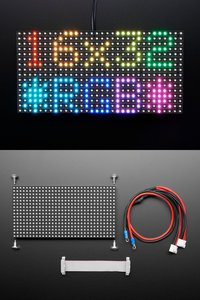 Medium 16x32 RGB LED matrix panel-cover