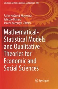Mathematical-Statistical Models and Qualitative Theories for Economic and Social Sciences (Studies in Systems, Decision and Control)-cover