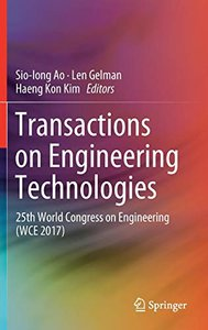 Transactions on Engineering Technologies: 25th World Congress on Engineering (WCE 2017)-cover