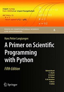 A Primer on Scientific Programming with Python (Texts in Computational Science and Engineering)-cover