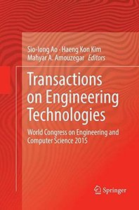 Transactions on Engineering Technologies: World Congress on Engineering and Computer Science 2015-cover