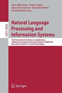 Natural Language Processing and Information Systems: 23rd International Conference on Applications of Natural Language to Information Systems, NLDB ... (Lecture Notes in Computer Science)-cover