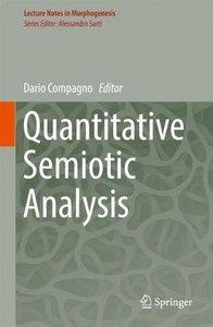Quantitative Semiotic Analysis (Lecture Notes in Morphogenesis)-cover