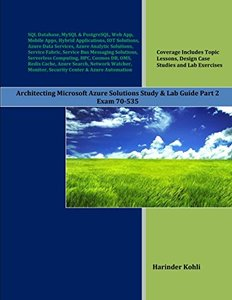 Architecting Microsoft Azure Solutions Study & Lab Guide Part 2: Exam 70-535-cover