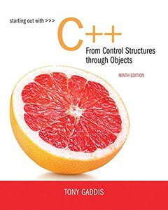 Starting Out with C++ from Control Structures to Objects (9th Edition)-cover