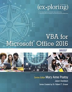 Exploring VBA for Microsoft Office 2016 Brief (Exploring for Office 2016 Series)-cover