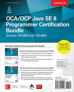 OCA/OCP Java SE 8 Programmer Certification Bundle (Exams 1Z0-808 and 1Z0-809)-cover