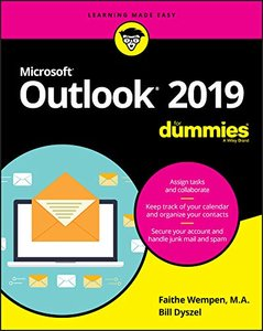 Outlook 2019 For Dummies (Outlook for Dummies)-cover