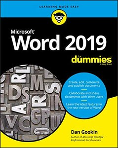 Word 2019 For Dummies-cover