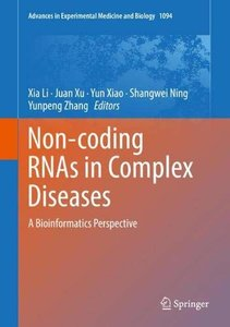 Non-coding RNAs in Complex Diseases: A Bioinformatics Perspective (Advances in Experimental Medicine and Biology)-cover