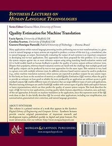 Quality Estimation for Machine Translation-cover