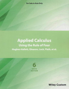 Applied Calculus: Using the Rule of Four, 6/e (Asia Edition)(Paperback)-cover