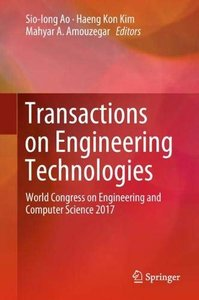 Transactions on Engineering Technologies: World Congress on Engineering and Computer Science 2017-cover