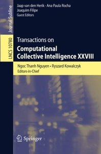 Transactions on Computational Collective Intelligence XXVIII (Lecture Notes in Computer Science)-cover
