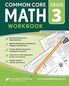 3rd Grade Math Workbook: CommonCore Math Workbook-cover