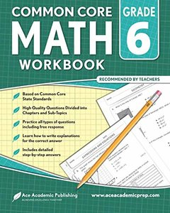 6th grade Math Workbook: CommonCore Math Workbook-cover