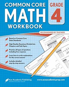 4th grade Math Workbook: CommonCore Math Workbook-cover
