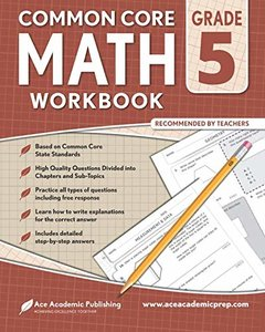 5th grade Math Workbook: CommonCore Math Workbook-cover