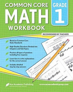 1st grade Math workbook: CommonCore Math Workbook-cover