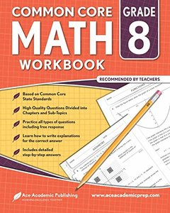 8th grade Math Workbook: CommonCore Math Workbook-cover