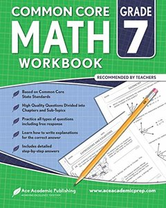 7th grade Math Workbook: CommonCore Math Workbook-cover