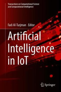 Artificial  Intelligence in IoT (Transactions on Computational Science and Computational Intelligence)-cover