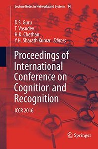 Proceedings of International Conference on Cognition and Recognition: ICCR 2016 (Lecture Notes in Networks and Systems)-cover