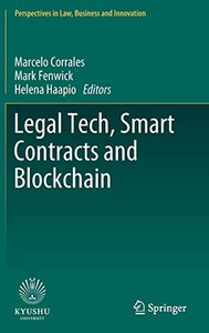 Legal Tech, Smart Contracts and Blockchain (Perspectives in Law, Business and Innovation)-cover