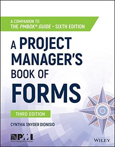 A Project Manager's Book of Forms: A Companion to the PMBOK Guide-cover