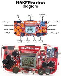 MAKERbuino 遊戲機開發板-cover
