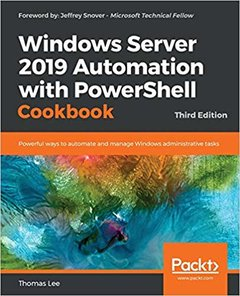 Windows Server 2019 Automation with Powershell Cookbook - Third Edition -cover