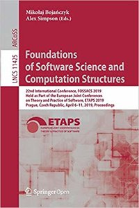 Foundations of Software Science and Computation Structures-cover