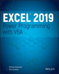 Excel 2019 Power Programming with VBA-cover