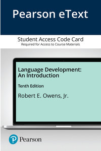 Language Development: An Introduction, Enhanced Pearson eText -- Access Card-cover