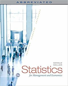 Statistics for Management and Economics, Abbreviated, 10/e (Hardcover)-cover