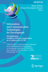 Information and Communication Technologies for Development. Strengthening Southern-Driven Cooperation as a Catalyst for ICT4D: 15th IFIP WG 9.4 Intern-cover