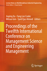 Proceedings of the Twelfth International Conference on Management Science and Engineering Management-cover
