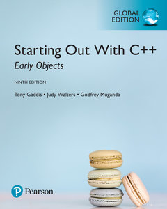 Starting Out with C++: Early Objects, 9/e (GE-Paperbcak)-cover