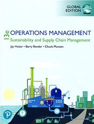 Operations Management: Sustainability and Supply Chain Management, 13/e (GE-Paperback)