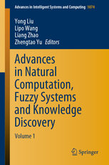 Advances in Natural Computation, Fuzzy Systems and Knowledge Discovery: Volume 1-cover