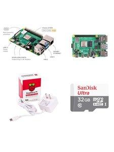 Raspberry Pi 4 Model B/4GB 樹莓派套件組--簡配(含Pi 4/4GB + 32G SD卡 + 原廠電源)-cover