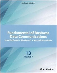 Fundamental of Business Data Communications, 13/e (IE-Paperback)-cover
