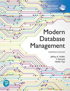 Modern Database Management, 13/e (GE-Paperback)-cover