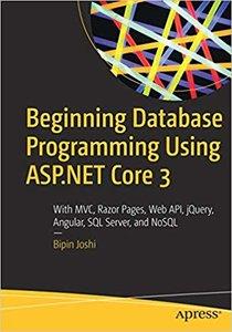 Beginning Database Programming Using ASP.NET Core 3-cover