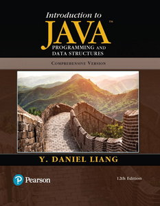 Introduction to Java Programming and Data Structures, Comprehensive Version, 12th Edition-cover
