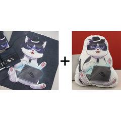 駭客貓毛巾+抱枕-cover