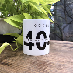 404 Life Not Found 馬克杯 (新款改版)-cover